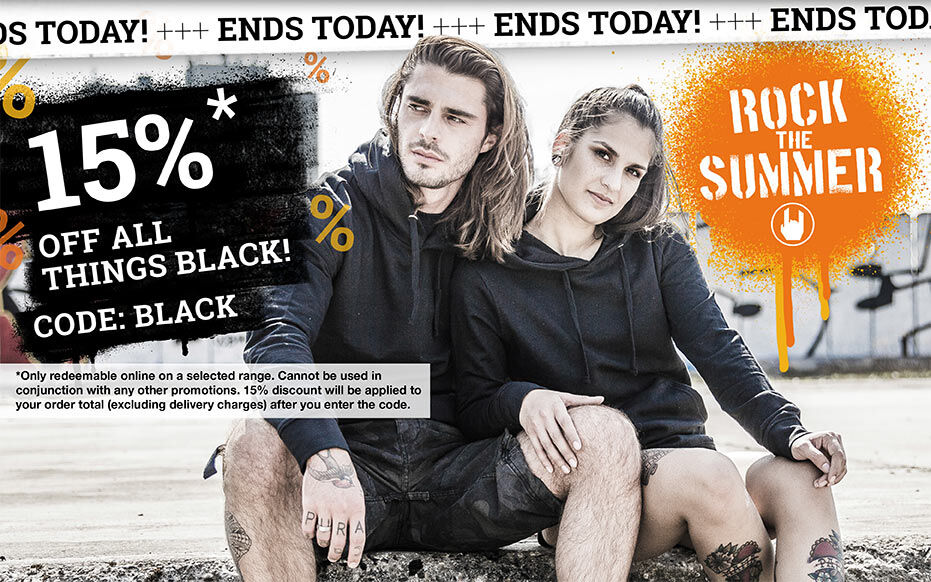 15% OFF ALL THINGS BLACK!