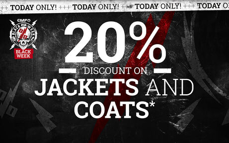 20% DISCOUNT ON JACKETS AND COATS