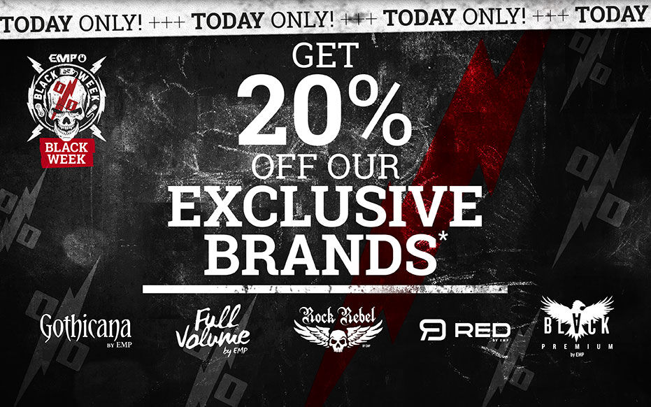 Get 20% off our EXCLUSIVE BRANDS