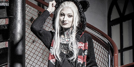 Punk emo goth bbw woman 1