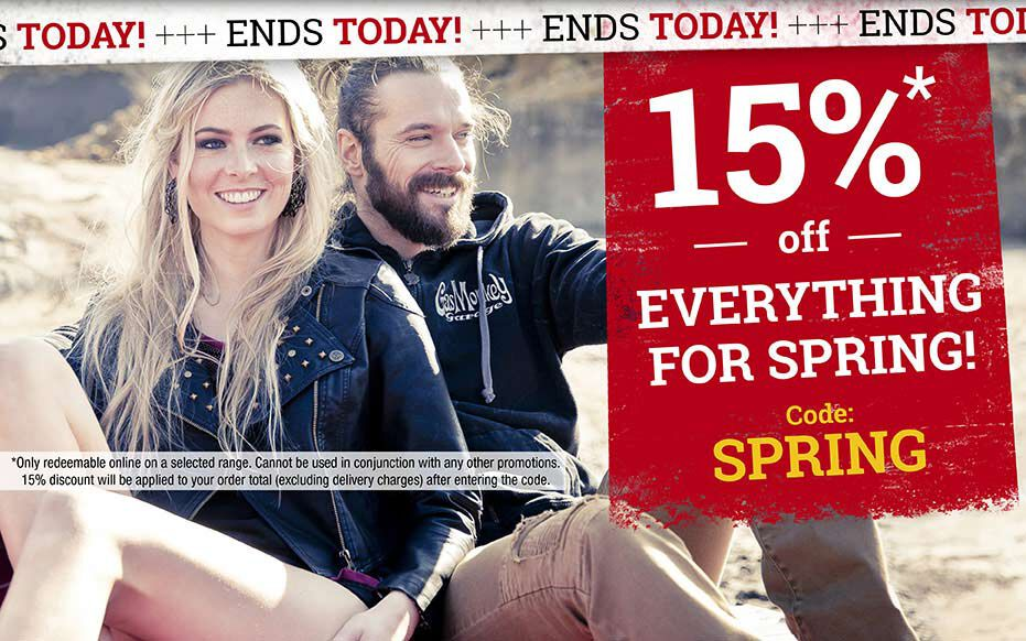 Today only: 15% off everything for spring! Code: SPRING