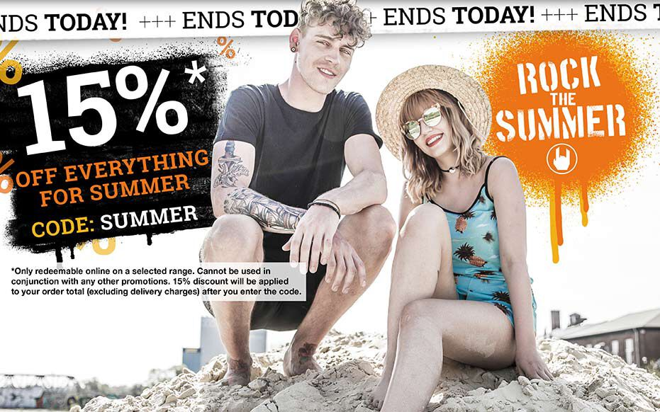 15% off everything for SUMMER! Only left today!