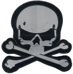 Big gray skull patch