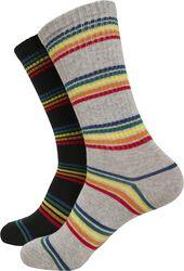 Rainbow Stripes Socks 2-Pack
