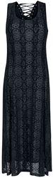 Circle Flock Tie Detail Dress