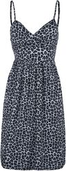 Short Dress with Leopard Print and Adjustable Straps