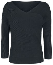 Knitted Front Asymetric Sweater