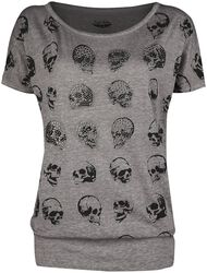 T-Shirt with Skull Print