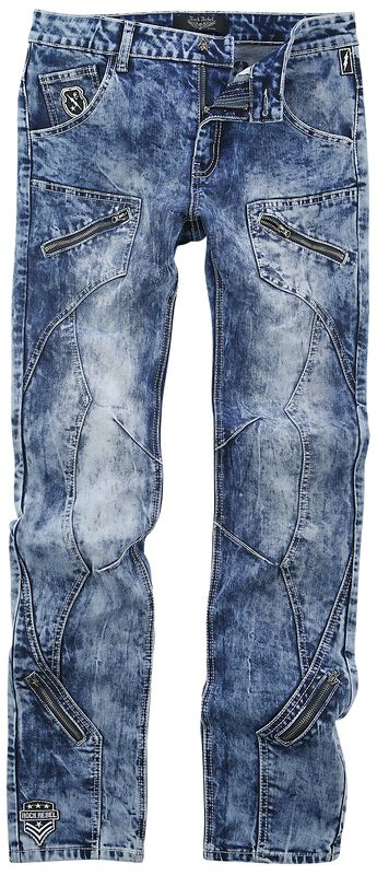 Jared - Blue jeans with heavy wash