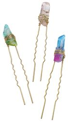 Crystal Rock Hair Grip Set 3pcs