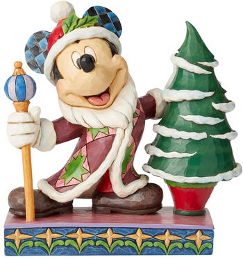 Mickey Mouse Father Christmas Figurine