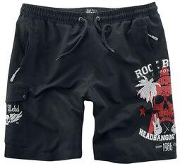 Swim Shorts with Skull Print Rock Rebel