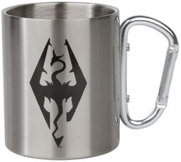 V - Skyrim - Dragon Symbol - Mug with Carabiner Clip