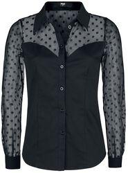 Black Shirt with Transparent Elements