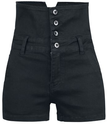 High Waist Denim Hot Pants