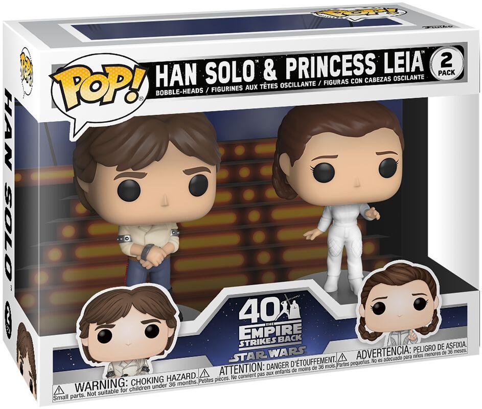 Empire Strikes Back 40th Anniversary - Han Solo & Princess Leia (2 Figures) Vinyl Figure