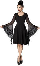 Gothic-Kleid mit Trompetenärmel
