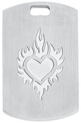 Dogtag Heart Flames
