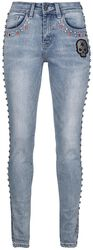 Megan - Jeans with Rhinestones