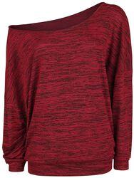 Oversize Melange Wideneck Sweater