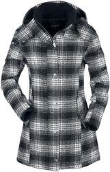 Black/white Checked Winter Jacket