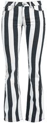 Grace - Black/White Striped Trousers
