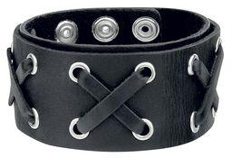 Crossed Leather Bracelet