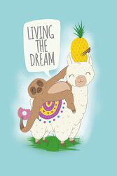 Llama and Sloth Living the dream
