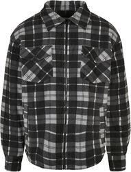Plaid Teddy Lined Shirt Jacket