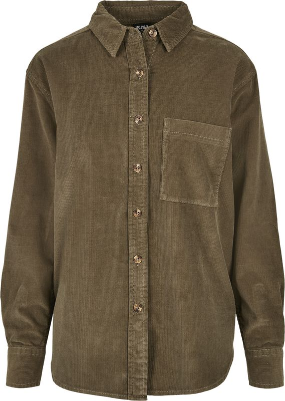 Ladies Corduroy Oversized Shirt