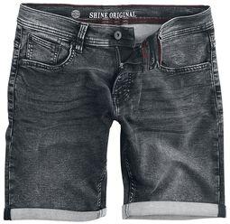 Superflex Denim Shorts Black Mud