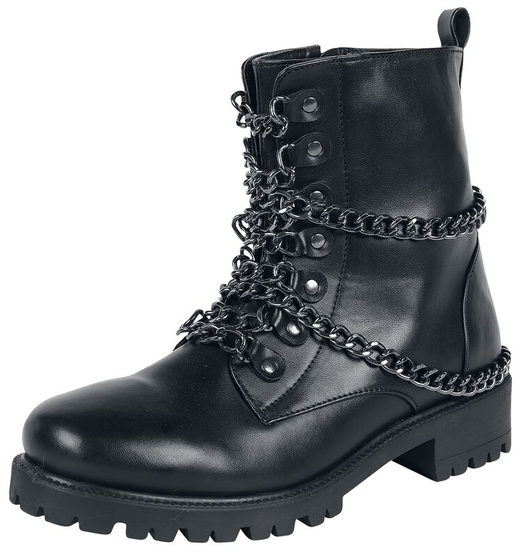 Black Rock Boots with Chains
