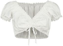 Strapless dirndl blouse