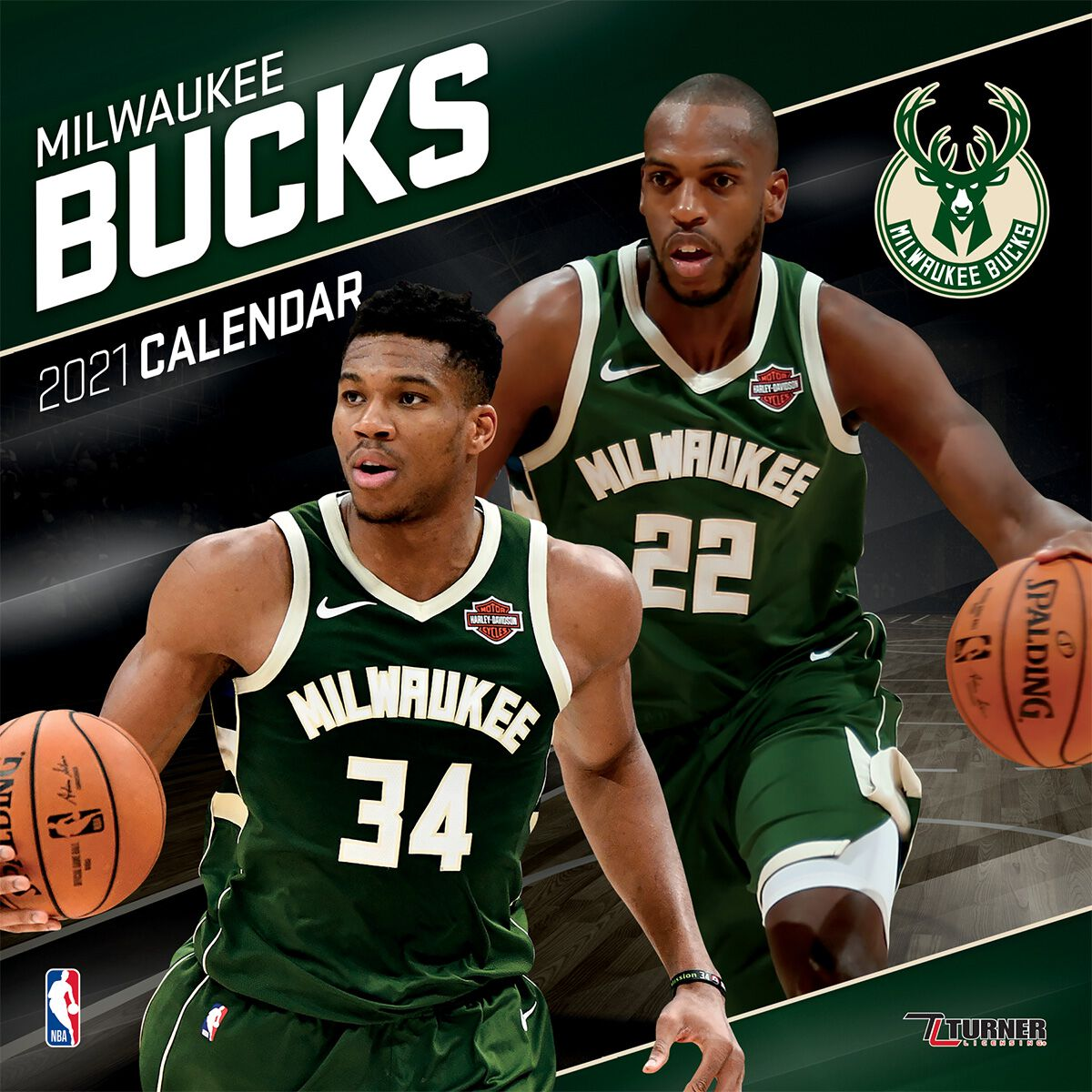 Milwaukee Bucks   Calendar 2021   NBA Wall Calendar   EMP
