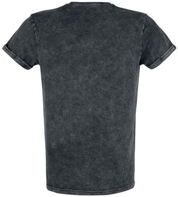 T-shirt with Vintage Wash and 3D Print
