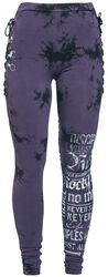 Batik-Look Leggings with Lacing