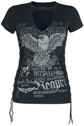 T- Shirt mit Cutout und Schnürungen