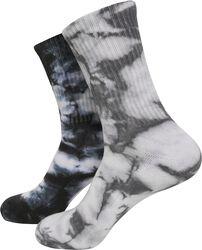 High Socks Tie Dye 2-Pack