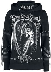 Gothicana X Anne Stokes - Black Hoodie with Print and Details