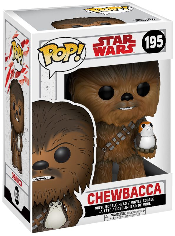 episode 8 the last jedi chewbacca with porg vinyl bobble head 195 star wars funko pop emp. Black Bedroom Furniture Sets. Home Design Ideas