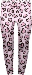 Pink Leopard With Hearts