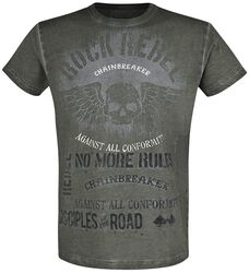 T-shirt with Skull and Lettering