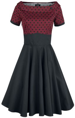 Darlene Retro Polka Dot Swing Dress
