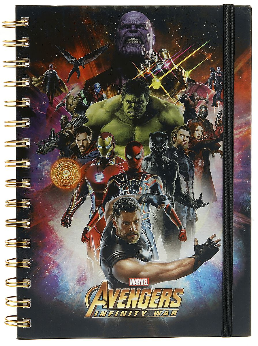 287a31983 Infinity War - Space Montage Holographic   Avengers Notebook   EMP