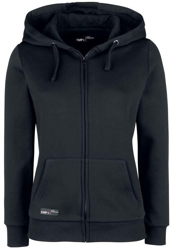 Black Hooded Jacket with EMP Logo Print