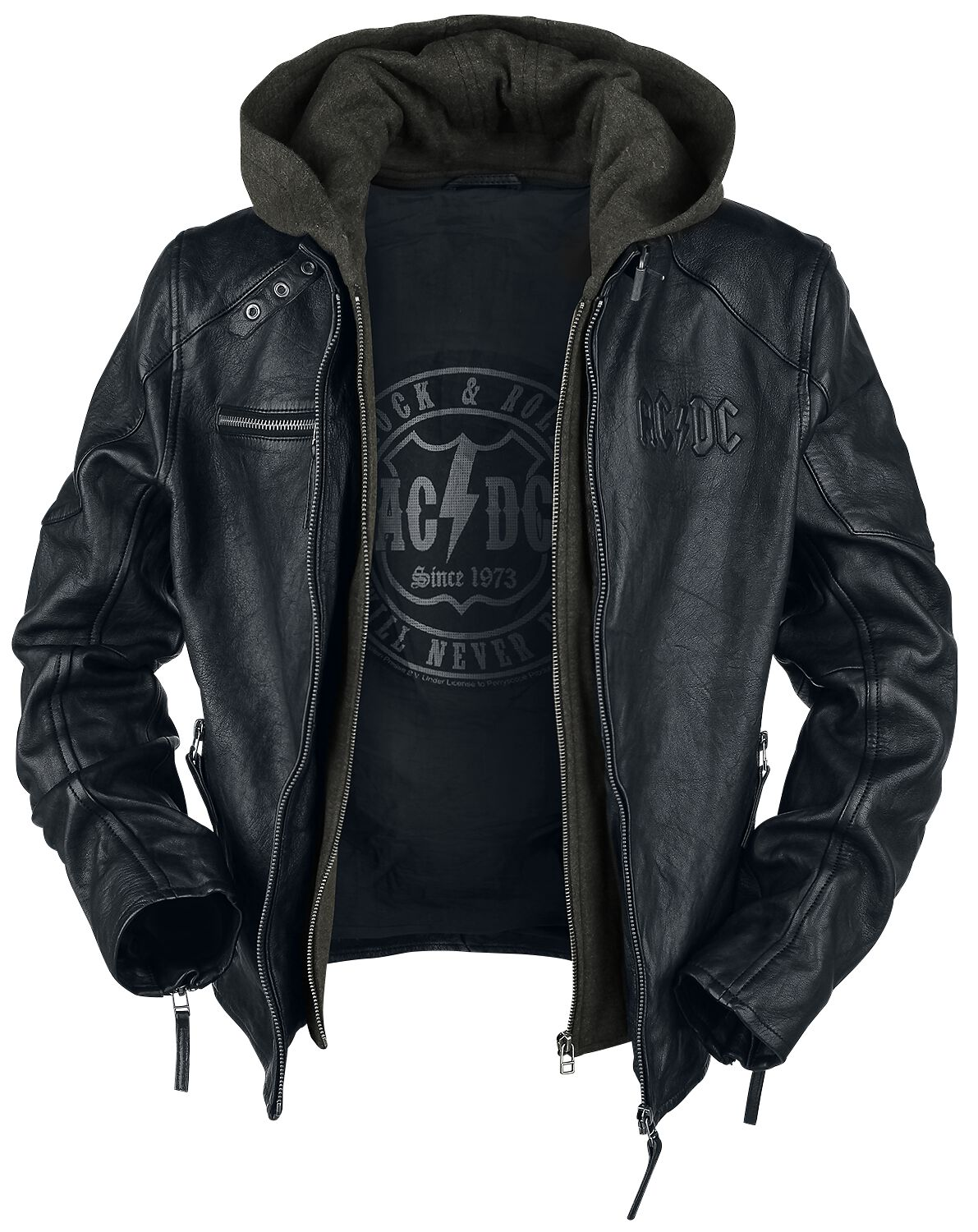 Rock and roll leather jacket