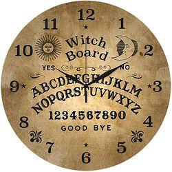 Glass Wall Clock Ouija
