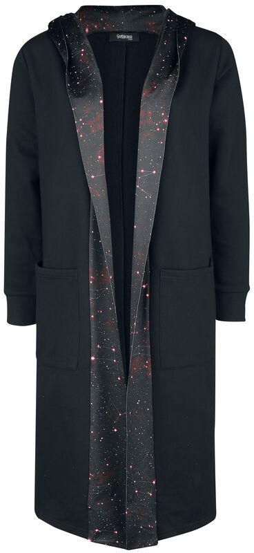 Black Cardigan with Galaxy Print
