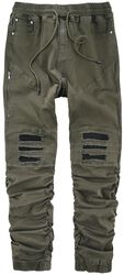 Casual trousers in cargo look with biker elements