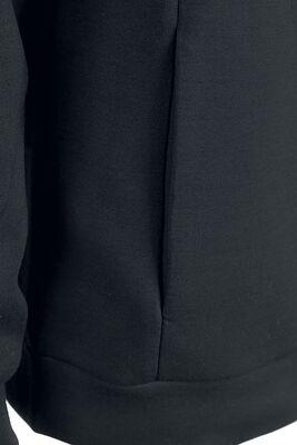Schwarze Kapuzenjacke mit Softshell-Touch und Prägedruck